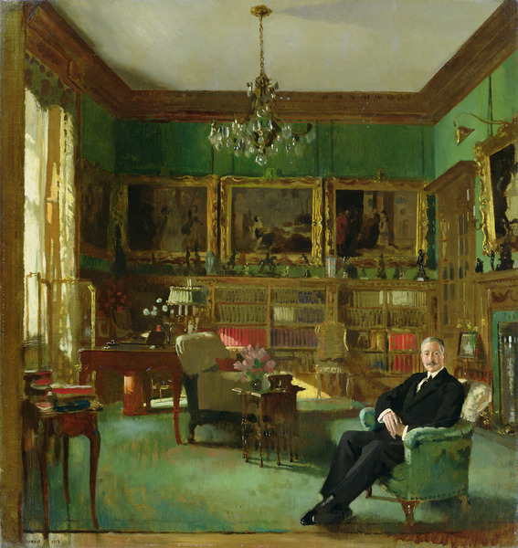 'Sir Otto Beit in his study at Belgrave Square' by William Orpen, 1913, Johannesburg Art Gallery. Image licensed from the Bridgman Art Library