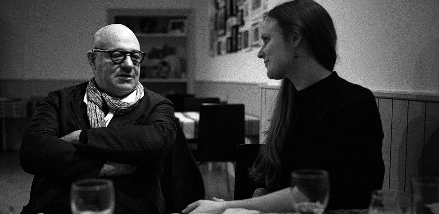 Gianfranco Rosi and Lucy Bollington. Credit: Rory O'Bryen