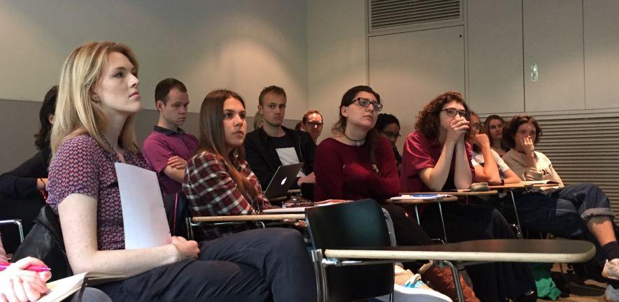 Students at Joanna Hogg master class