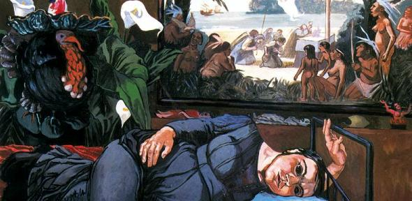 The First Mass in Brazil (detail, 1993) by Paula Rego