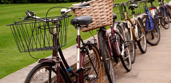 A row of bicycles in Cambridge